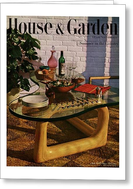 House And Garden Cover Featuring Brunch Greeting Card