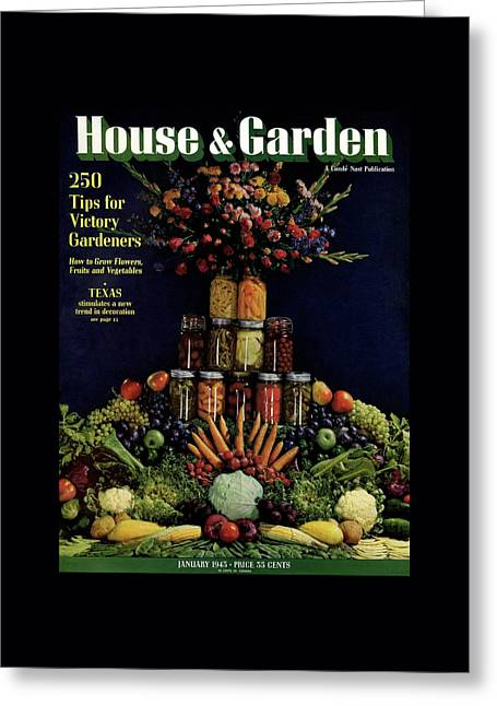 House And Garden Cover Featuring Fruit Greeting Card by Fredrich Baker