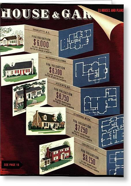House And Garden Cover Featuring Houses Greeting Card