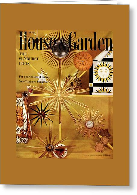 House And Garden Cover Greeting Card by Herbert Matter