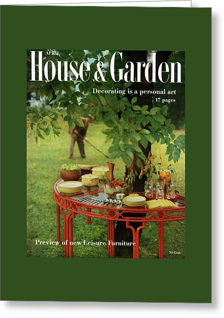 House And Garden Cover Greeting Card by Horst P. Horst
