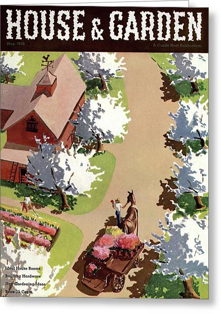 House And Garden Cover Greeting Card