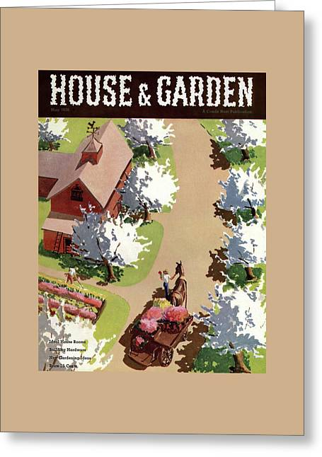House And Garden Cover Greeting Card by John Gibbs