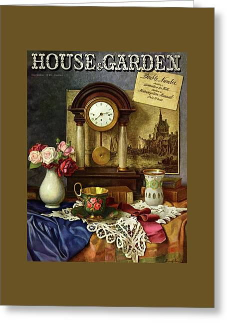 House And Garden Cover Greeting Card by Robert Harrer