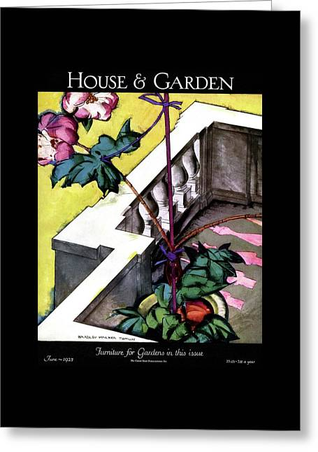House And Garden Furniture For Gardens Greeting Card by Bradley Walker Tomlin