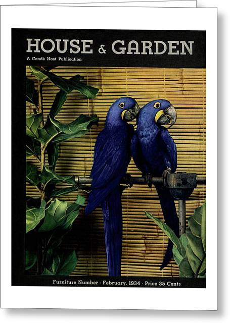 House And Garden Furniture Number Cover Greeting Card