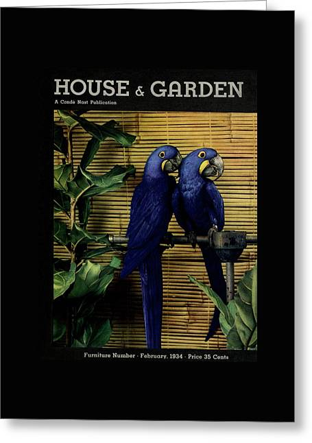 House And Garden Furniture Number Cover Greeting Card by Anton Bruehl