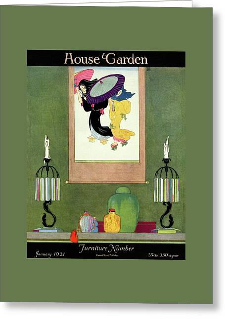 House And Garden Furniture Number Greeting Card by Harry Richardson