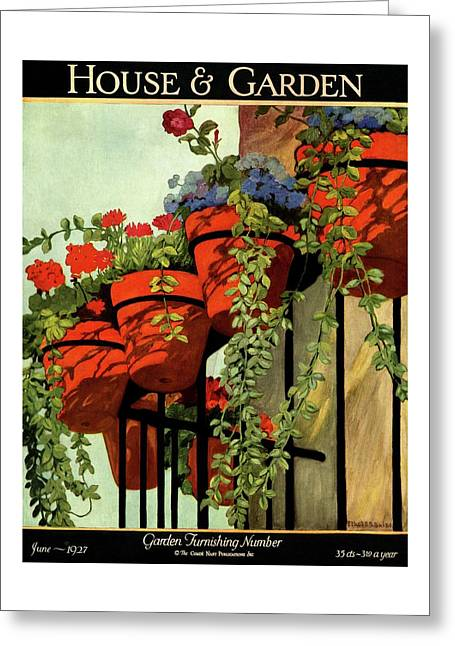 House And Garden Garden Furnishing Number Cover Greeting Card