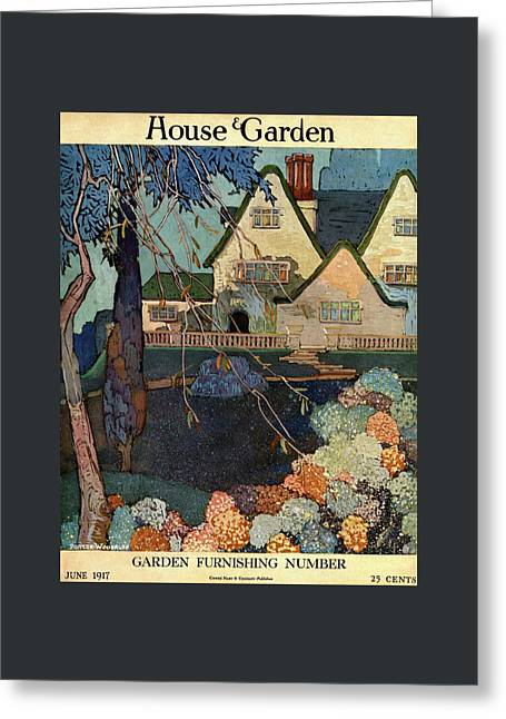 House And Garden Garden Furnishing Number Cover Greeting Card by Porter Woodruff