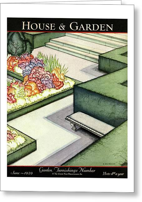 House And Garden Garden Furnishings Number Cover Greeting Card
