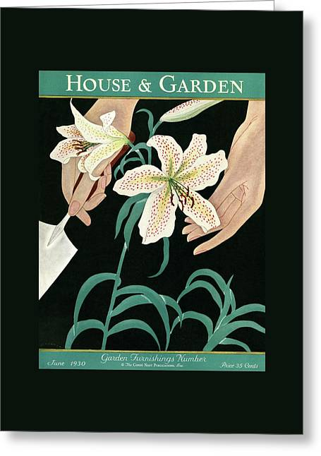 House And Garden Garden Furnishings Number Greeting Card by J. C. Atherton