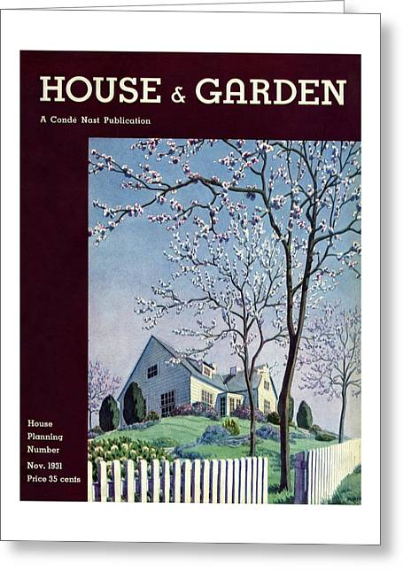 House And Garden House Planning Number Cover Greeting Card
