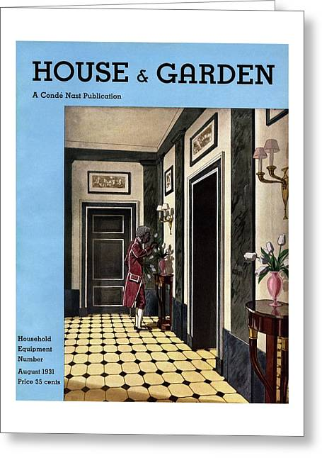 House And Garden Household Equipment Number Greeting Card