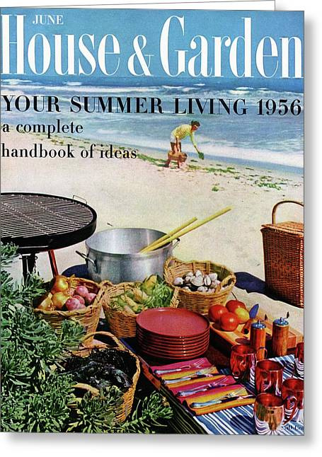 House And Garden Ideas For Summer Issue Cover Greeting Card by Tom Leonard