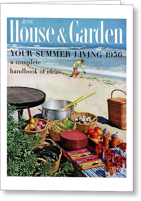 House And Garden Ideas For Summer Issue Cover Greeting Card