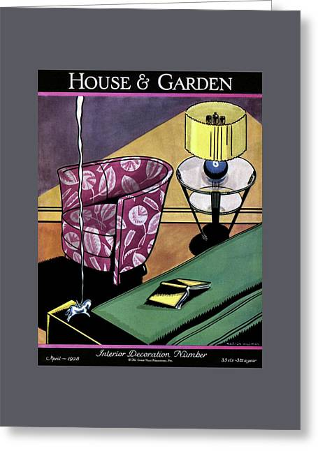 House And Garden Interior Decorating Number Greeting Card by Marion Wildman