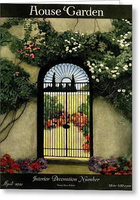 House And Garden Interior Decoration Number Greeting Card
