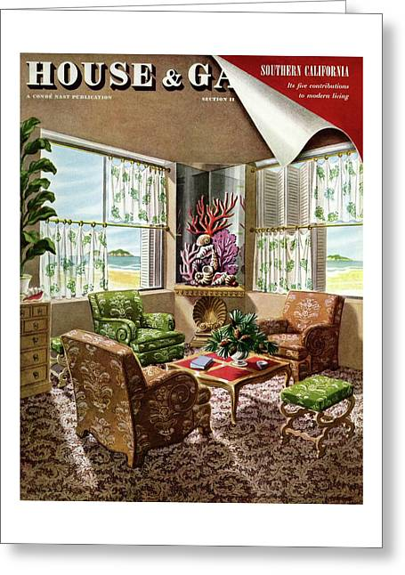 House And Garden Issue About Southern California Greeting Card