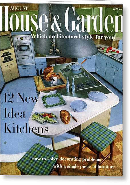 House And Garden Kitchen Ideas Issue Greeting Card