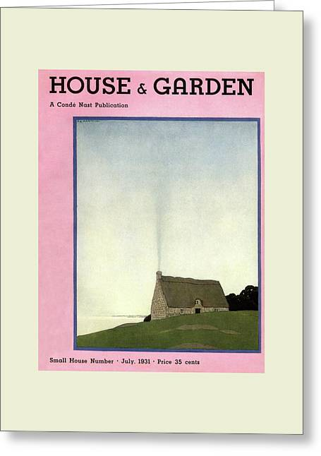 House And Garden Small House Number Cover Greeting Card by Andre E.  Marty