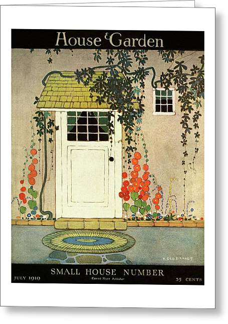 House And Garden Small House Number Cover Greeting Card