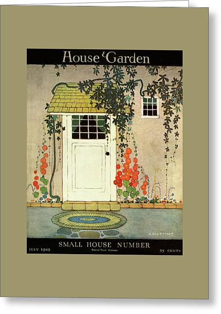 House And Garden Small House Number Cover Greeting Card by H. George Brandt