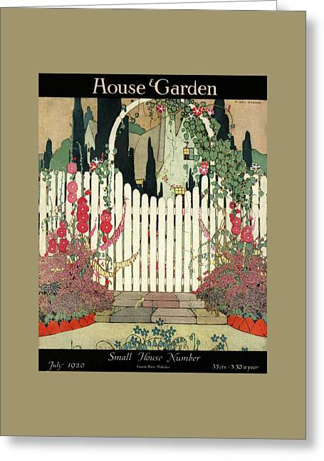 House And Garden Small House Number Greeting Card by H. George Brandt