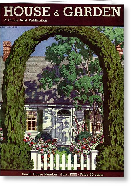 House And Garden Small House Number Greeting Card
