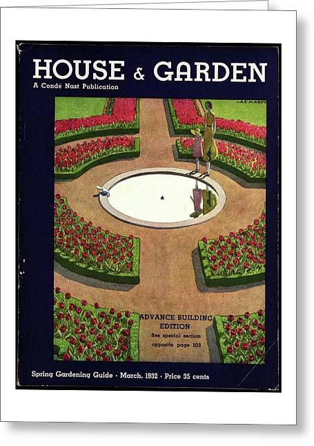 House And Garden Spring Gardening Guide Cover Greeting Card
