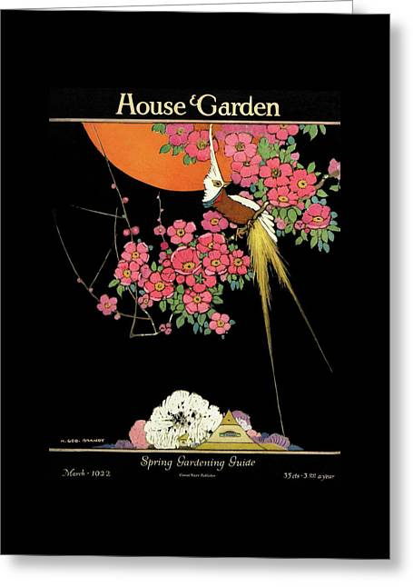 House And Garden Spring Gardening Guide Greeting Card by H. George Brandt