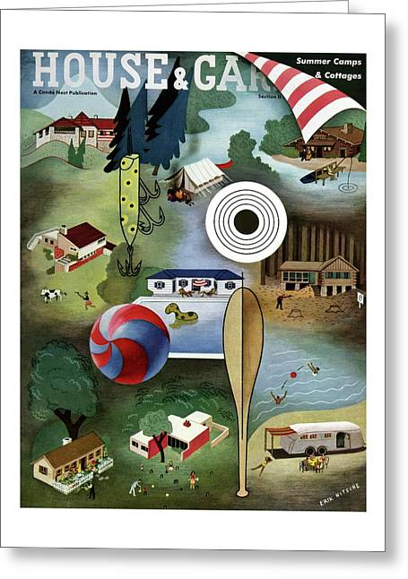 House And Garden Summer Camps And Cottages Cover Greeting Card