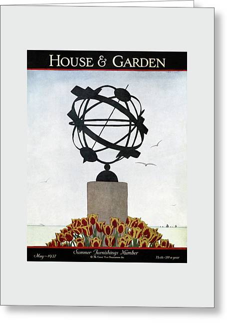 House And Garden Summer Furnishings Number Greeting Card by Andre E.  Marty
