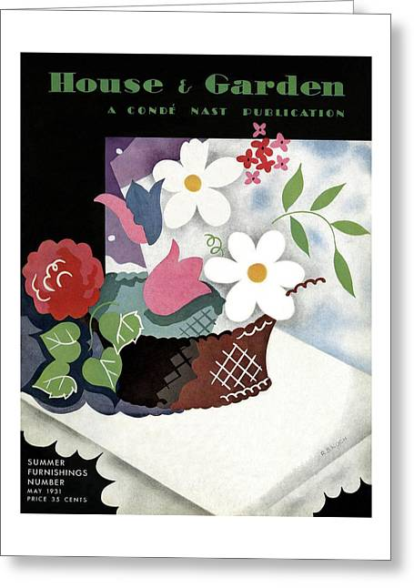 House And Garden Summer Furnishings Number Cover Greeting Card