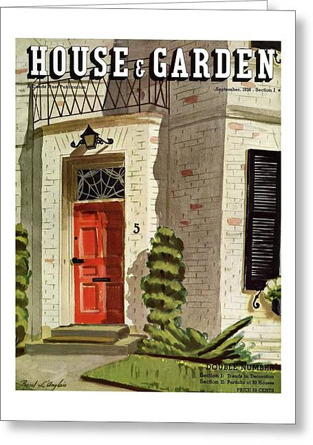 House And Garden Trends In Decorating Cover Greeting Card