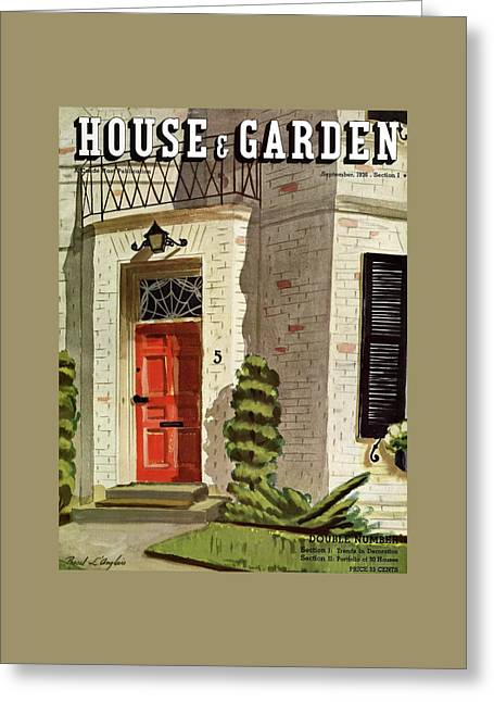 House And Garden Trends In Decorating Cover Greeting Card by Pascal L'Anglais
