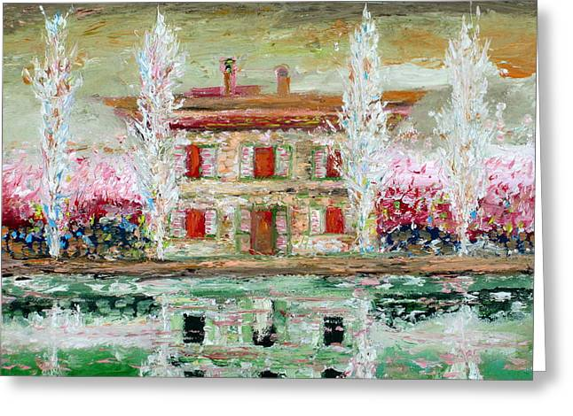 House And River Greeting Card by Fabrizio Cassetta