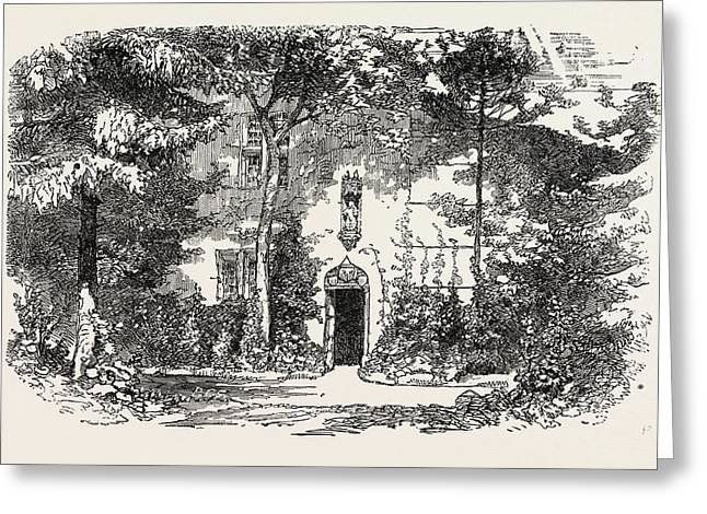 House And Statue Of Joan Of Arc, Jean Darc Greeting Card by French School