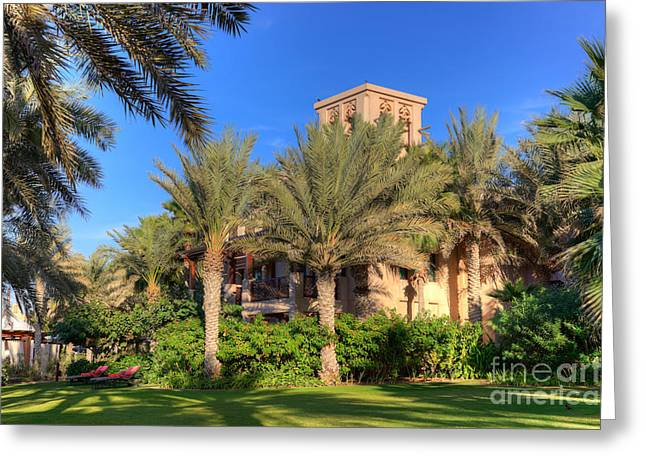 House At Madinat Jumeira Dubai Greeting Card by Fototrav Print