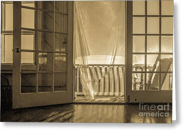House At The Beach Greeting Card by Diane Diederich