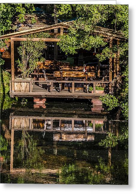 House By The Lake  Greeting Card by Sotiris Filippou
