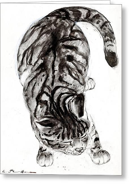 House Cat Greeting Card by Kurt Tessmann