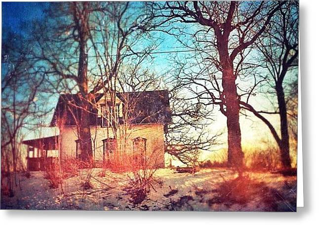 #house #home #old #farm #abandoned Greeting Card