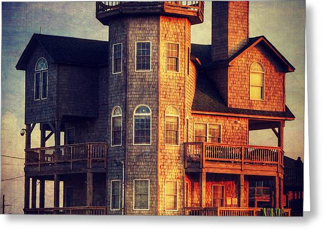 House In Rodanthe At Sunset Greeting Card by Patricia Januszkiewicz