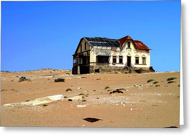 Greeting Card featuring the photograph House In The Desert by Riana Van Staden