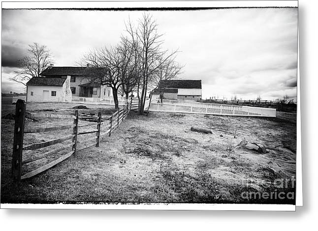 House In The Field Greeting Card by John Rizzuto
