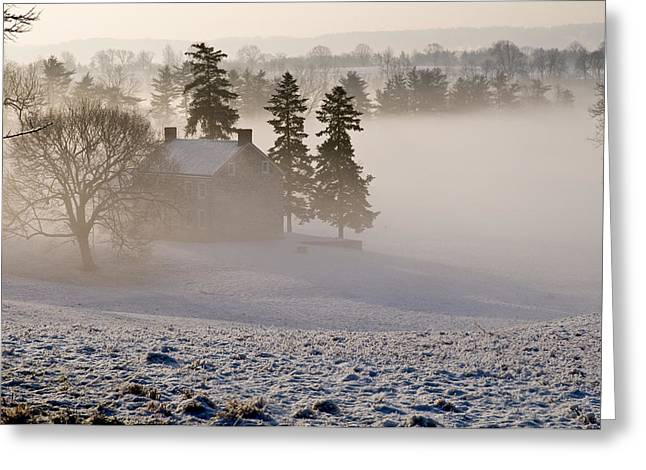 House In The Mist Greeting Card by Robert Culver