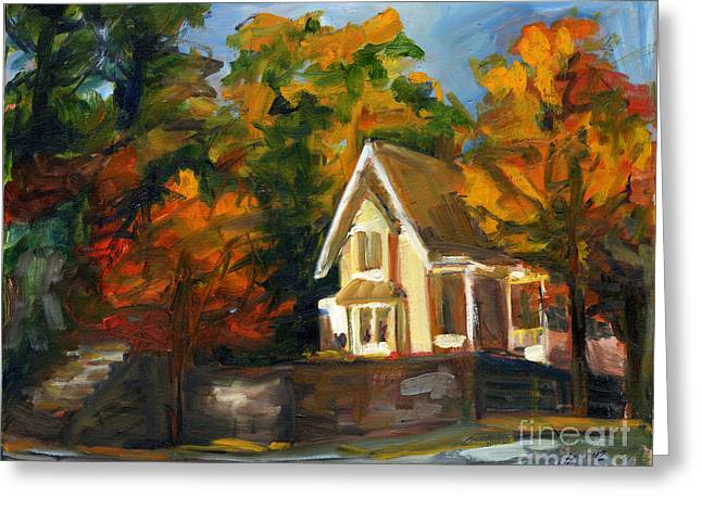 House In The Sun Greeting Card by Jessica Cummings