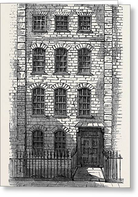House In Which Handel Lived 57 Brooke Street London Greeting Card