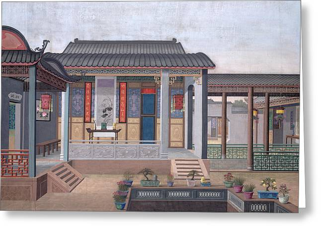 House Of A Chinese Official Greeting Card by British Library